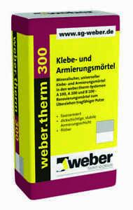 ( 0,86 €/1 kg) Klebe- und Armierungsmörtel weber.therm 300 grau Armierungskleber