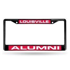 Louisville Cardinals Alumni NCAA Black Metal Laser Cut License Plate Frame