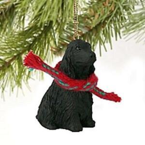 Black Cocker Spaniel Christmas Tree Figurine Decoration/Ornament Present/Gift