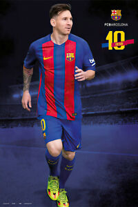 Fc Barcelona - Sports Poster / Print (Lionel Messi #10 - 2016 / 2017)