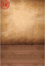 NEUTRAL BROWN WALL FLOOR BACKDROP BACKGROUND VINYL PHOTO PROP 5X7FT 150X220CM