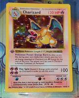 CHARIZARD-Pokemon Charizard Base Set 4/102 Rare Holographic Card Holo Free Shipp