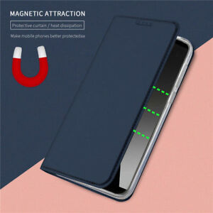 For Huawei Y7 Y9 Y8P Pro P20 P30 Slim Leather Flip Wallet Magnetic Case Cover