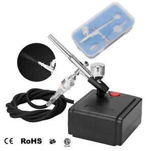 Mini Airbrush Compressor Kit Dual Action Air Brush Spray Gun Paint Tattoo 0.3MM