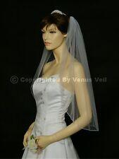 1T Ivory Bridal Elbow Length Pencil Edge Wedding Veil