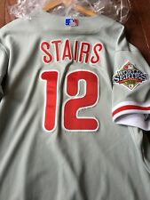 Matt Stairs Philadelphia Phillies Game Used 2008 World Series Road Jersey