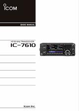 Highest Quality ~ Icom IC 7610   Operating Manual