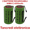 2 Batteria Ni-Mh C 1/2 torcia 4000 mAh mA rechargeable battery pack DIY no Ni-Cd