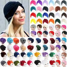 Womens Ladies Headband Hat Hair Turban Cap Hijab Casual Headband Bandana Wrap AU