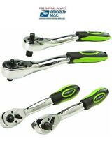 (2 Piece) 1/4 In. 3/8 In. 1/2 In. Professional Dual Drive Ratchet Set 8