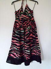 George Multi Coloured Short Summer Halterneck Dress Size 8 BNWT