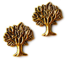 Gold Tone Tree Cufflinks - Gifts for Men - Handmade - Gift Box