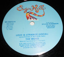 "THE WORD Love is Strange 12"" EARLY RAP! Sugar Hill '83 hip-hop R&B Soul"