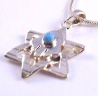 Star Of David Magen Hamsa Hand Of Fatima Evil Eye Necklace Pendant Kabbalah Gold