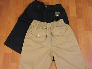 """GENEROUS FIT BOYS CHINO SHORTS - FROM AGE 10 UPTO 38"""" WAIST - NAVY OR SAND"""