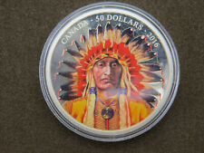 2016 $50 5 troy oz Silver Coin Wanduta: Portrait of A Chief Fifty Dollars 9999