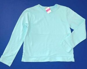 FRESH PRODUCE Medium Seaglass BLUE $59 HILTON French Terry Sweatshirt Top NWT M