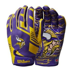 Minnesota Vikings Youth NFL Stretch Fit Receivers Gloves