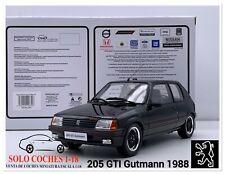 1:18 Peugeot 205 GTI Gutmann año 1988 color Negro Otto Mobile OT796