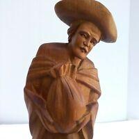 Vintage Folk Art Hand Carved Wooden Figurine