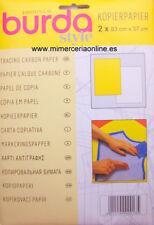 Papel burda modista, marca GUTERMAN, blanco y amarillo