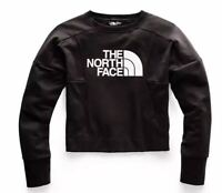 The North Face logo cropped pullover women's sweatshirt - Black - LARGE