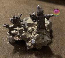Pewter Wizard & Unicorn 2�tall