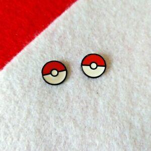 Pokemon Pokeball Enamel Stud Earrings Pokemon Gifts Jewelry Accessories
