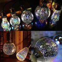 3D Fireworks E27 A60 ST64 G80 LED Retro Edison Glass Fairy Light Bulb Lamp Decor