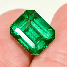 3.15Ct Colombian Emerald Octagon Collection Color Enhanced QMDa484