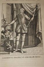 GRAVURE BELGIQUE LAMBERTUS BALDRICUS BRABANT VEEN COLLAERT 1623 OLD PRINT R986