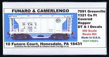 LMH Funaro F&C 7091 DT&I Covered Hopper DETROIT TOLEDO IRONTON  Greenville 2-Bay