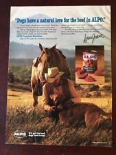 VTG 1983 Magazine Ad ALPO DOG Pet FOOD Bonanzas Lorne Greene