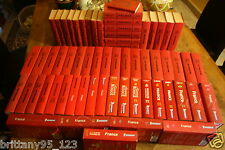 RARE Lot 66 Guides Rouge Michelin FRANCE de 1950 à 2015 - Excellent état- 60 KGS