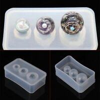 Silicone Mold Mirror Craft DIY Kit Jewelry Making Ball UV Resin Cake Decor Mould