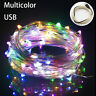 5M/10M LED USB Outdoor Silver Wire Lights String Wedding Party Christmas Decor