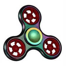 Finger Spinner Rainbow Titanium EDC Red Wheel Hand Fidget Focus Toy Autism ADHD