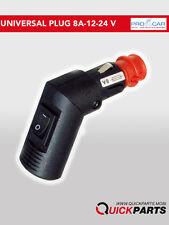 Male Din Car Cigarette Lighter Plug 12/24V- Switch,0/180°, FUSE -PROCAR 67747000