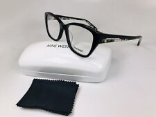 e48b5c50965 New Nine West NW5107 001 Black Eyeglasses with Blk Marble Temples 52mm  w Case