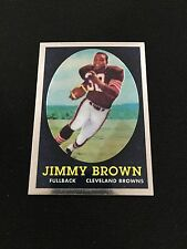 JIM BROWN ROOKIE INSERT RETRO CHROME TOPPS 2010 CLEVELAND BROWNS FOOTBALL CARD
