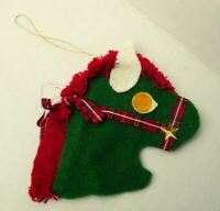 Candy Cane Cover Stick Pony Head Hanging Christmas Tree Ornament 1988 vintage