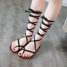 Gladiator Flat Sandals Womens Summer Shoes Flip Flops Plus Size Beach