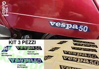 Kit Adesivi Targhette Vespa 50 HP PK FL 4 Marce 125 PVC cofano bauletto carena