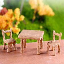 Floral Table Chairs Miniature Landscape Fairy Garden Decoration Dollhouse-Acc WL