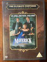 Maverick DVD 1994 Comédie Film Western Largeur / Mel Gibson Et Jodie Foster