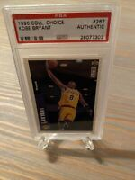 1996 Collector's Choice KOBE BRYANT PSA Authentic Rookie Card RC #267 🏀