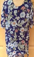 NEW 12 designer ALICE AND YOU longline blue floral tunic dress short sleeve