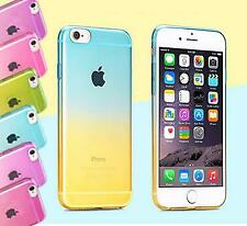 GRADIENT RAINBOW CLEAR CASE FOR IPHONE 8 8+ 7 7+ 6S 6+ SAMSUNG GALAXY S7/S7 EDGE