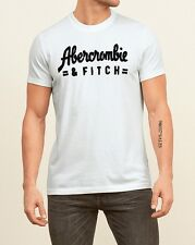 ABERCROMBIE & FITCH MEN'S GRAPHIC TEE T SHIRT 【 LARGE 】123-238-1948-100 WHITE