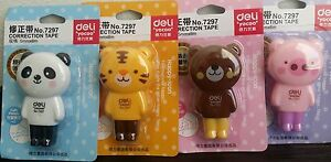 Cute Animal Correction Tape White Out School Supply Tiger, Bear, Panda, Pig